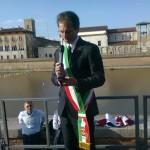 Il vicesindaco Paolo Ghezzi presenta la Regata Pisa-Pavia