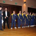 La squadra di rugby femminile del Cus Pisa