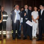 La sezione canottaggio, con i vincitori della Pisa-Pavia