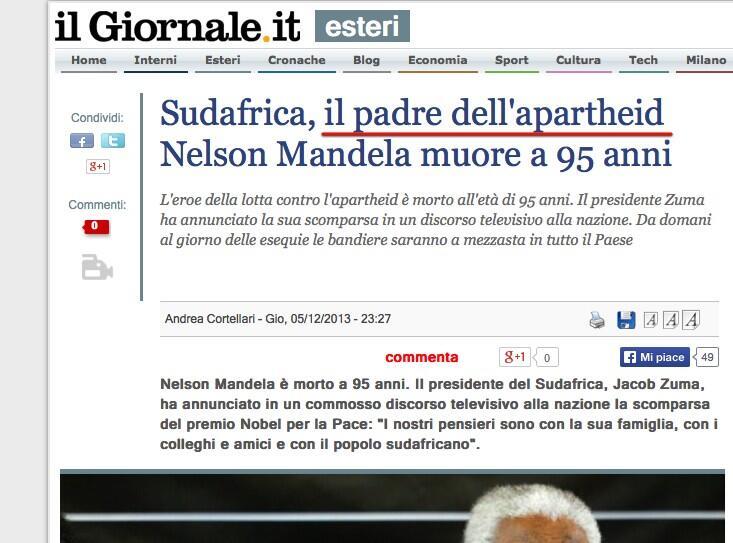 MandelaGiornale