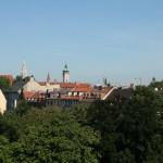 Una veduta di alcuni campanili della città di Monaco di Baviera