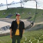 Io all'Olympiastadion di Monaco di Baviera