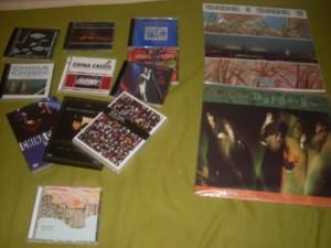 la mia collezione personale di dischi della band