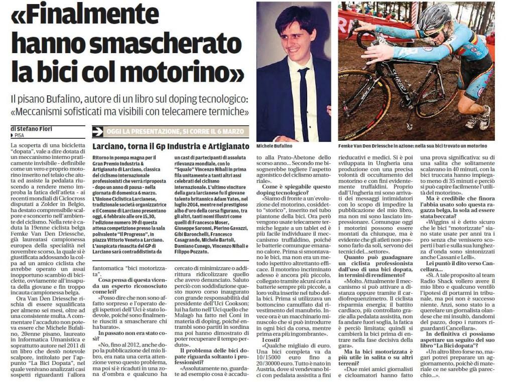 L'intervista su Il Tirreno