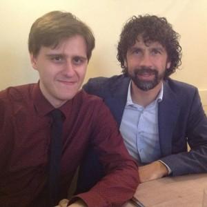 Con Damiano Tommasi, presidente AIC