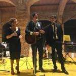 Con il grande cantautore Alberto Nelli. Foto Gentilini