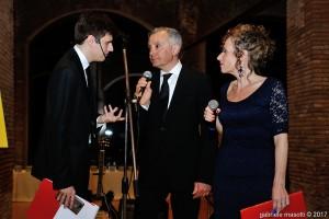 Con Antonio Gentilini e Maria Chiara De Neri. Foto Masotti per Confesercenti
