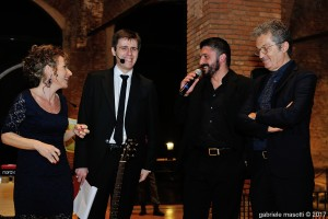 Intervista e risate con Gattuso. Foto Masotti per Confesercenti