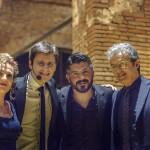 Che quartetto! Con Mariachiara De Neri, mister Gattuso e il presidente Corrado. Foto Malasoma
