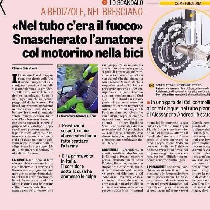 30 luglio, La Gazzetta dello Sport, di Claudio Ghisalberti