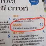 Un anno difficile per la nazionale italiana di calcio... e anche per chi ne ha fatto le pagelle
