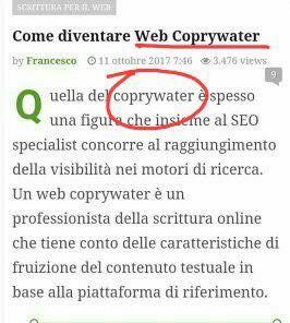 Quando il Web Copyrigher diventa Web Coprywater...