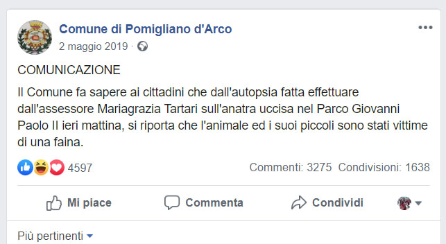 Cominciamo da questa perla del Comune di Pomigliano D'Arco